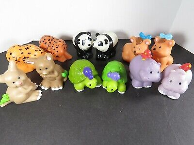 12 Fisher Price Little People Lot Noah's Ark Animals Pairs Panda Tiger A8328