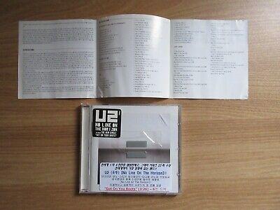 U2 - No Line Of The Horizon Korea Orig CD Rare Promo Sticker
