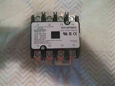 Hartland Controls Contactor - Hcc-4xt04cg 120vac 5060hz 40fla - Brand New
