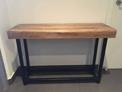 New Recycled Timber Elm Bench Industrial Metal Hall Table Console