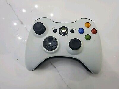 VG Official Microsoft Xbox 360 White/Black Mod Wireless Controller Original OEM