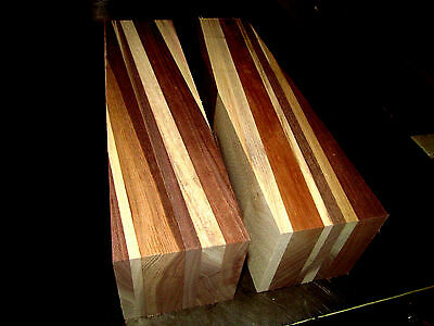 - ONE SAPPY WALNUT LAMINATED OFFSET TURNING BLANK LUMBER WOOD 3 X 3 X 12