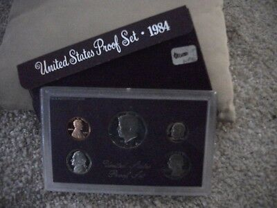 1984-S US Proof Set 5 Coins w Envelope FREE SHIPPING