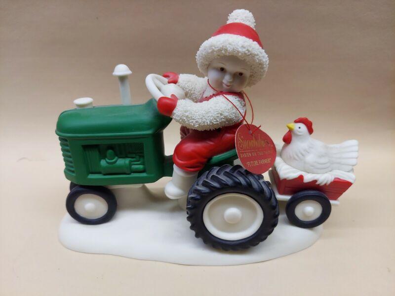 """MINT 2002 Dept 56 FUTURE FARMER Snowbabies Babies on the Farm  Figure 7""""x 5"""""""