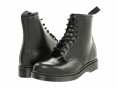 Men's Shoes Dr. Martens 1460 MONO 8 Eye Leather Boots 14353001 BLACK SMOOTH ()