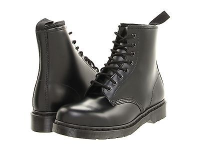 Men's Shoes Dr. Martens 1460 MONO 8 Eye Leather Boots 14353001 BLACK SMOOTH