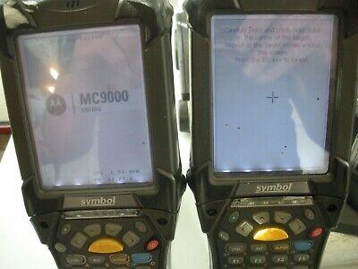Symbol Motorola Barcode Scanner Lot Of 2 Mc9090-gjojbfga2wr W 4x4 Batt Chargers