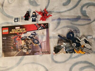 LEGO 76036 Marvel Super Heroes Carnage's Shield Sky Attack Preowned