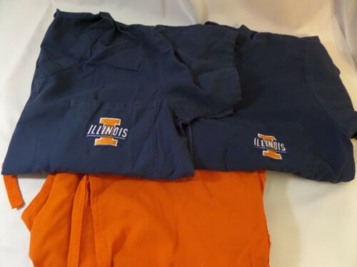 Lot of Scrubs orange and blue illini size med