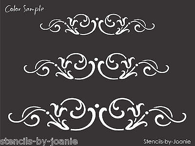 Stencil French Swirl Scroll Tulip Border Design Country Cottage Chic Art Signs (Swirl Border)