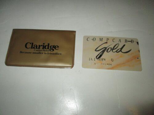CLARIDGE HOTEL CASINO ATLANTIC CITY NEW JERSEY COMPCARD GOLD SLOT CARD & CASE