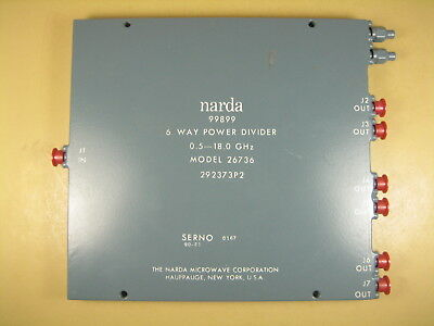 Narda 26737 Power Divider 6 Way 0.5-18.0ghz