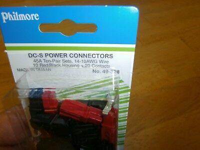 Philmore 49-328 Anderson 45 Amp Dc-s Power Connectors Quick Disconnect10 Prs