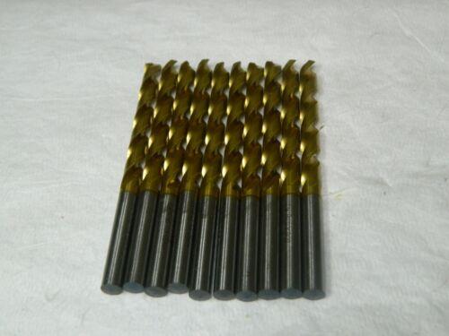 """Guhring Cobalt Jobber Drill 9/32"""" Letter K 130° TiN Set of 10 9006570071400"""