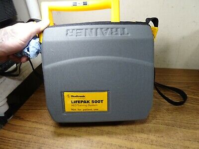 Medtronic Lifepak 500t Aed Defibrillator Training System Wbattery Case Remote