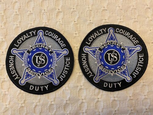 UNITED STATES SECRET SERVICE PATCHES - TWO PATCHES TOTAL