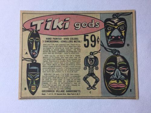 1962 TIKI GODS necklaces cartoon ad