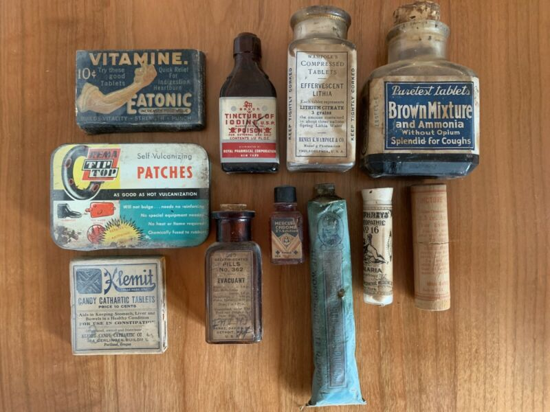 Entire Collection of 45 Vintage Apothecary Medicinals & Drugstore Items