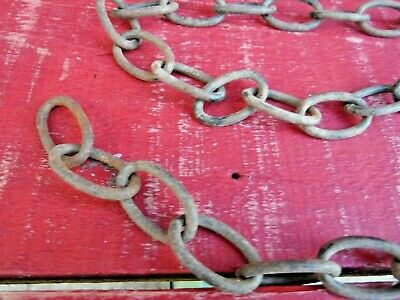 2 ORIGINAL VINTAGE LENGTHS OF METAL CHAIN -  HARDWARE