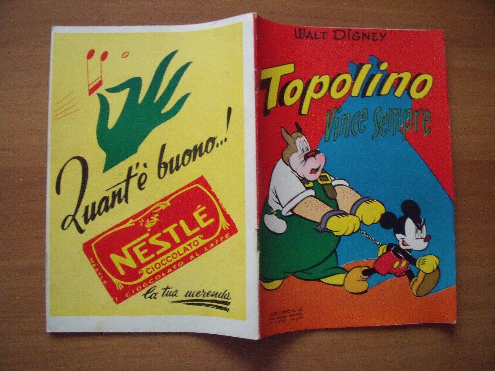 ALBO D'ORO - TOPOLINO  N. 44 - DEL 30 AGOSTO 1953