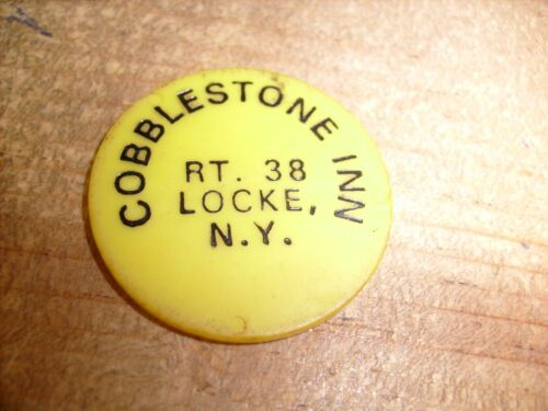 COBLESTONE INN LOCKE N.Y. - BEER  - VINTAGE  DRINK TOKEN CHIP ADVERTISEMENT