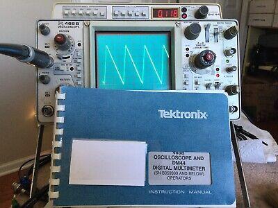 Tektronix 465b Oscilloscope And Dm 44 Digital Multimeter