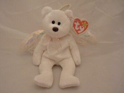 1998 Ty Original Beanie Babies Halo White Holiday Angel Bear W Tags  9 Inch