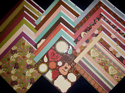 12X12 Scrapbook Paper Cardstock Dixie Diva Country Girl Music Guitar Rock 24 Lot