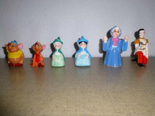 7 Vintage Disney Cinderella & Sleeping Beauty Porcelain Figurines Made In Japan
