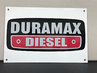 Duramax diesel advertising sign garage