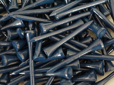 1000 Holztees __ blau _ 5,4 cm _ (zu 100 verpackt) NEU __ 10 x 100 Hartholztees