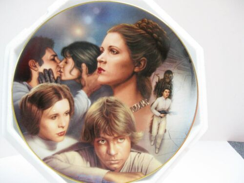 Star Wars Princess Leia Heroes & Villains Hamilton Collection Plate w/COA 1997