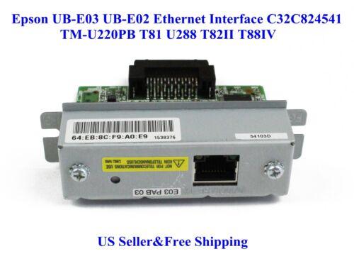 US Epson UB-E03 Ethernet Interface C32C824541 TM-U220PB T81 U288 T82II T88IV