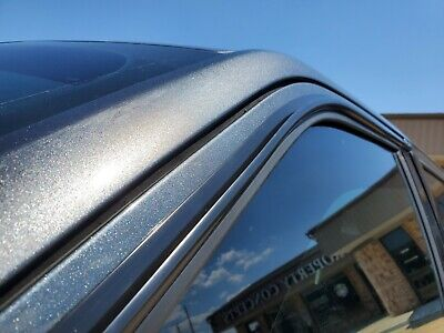 DIY Side Window Rain Guard Gutter Visor Deflector For Select Cadillac Model