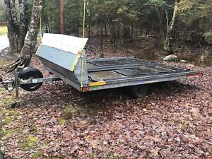 Two Polaris Sleds and Double Wide Trailer.. Deal!!
