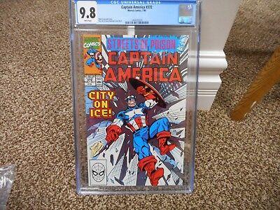 Captain America 372 cgc 9.8 WHITE p MINT Marvel 1990 Avengers movie Infinity War - 1990 Captain America Movie