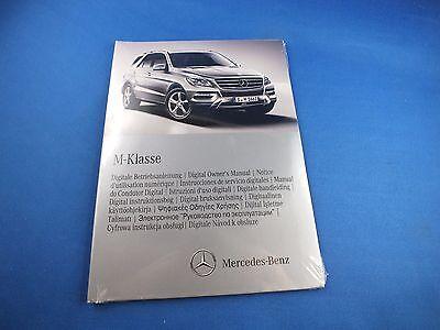 Original Mercedes M-Klasse 2012 digitale Betriebsanleitung CD 1665848081 W166 ML