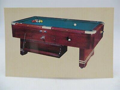 Vintage Postcard - Valley Pool Table Advertising Card