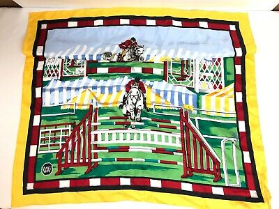 Authentic Worth NY Silk Square/Scarf Horse Riding Equestrian Silk WORTH - Horse Riding Scarf