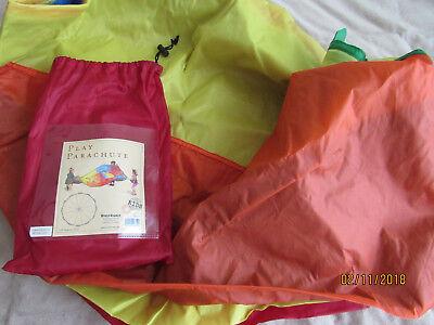 NEW play parachute kids play 9.5 feet = 3 yards diameter multicolored retail $25