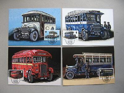 UK ISLE OF MAN, 4x maximumcard maxi card 1999, busses public transport