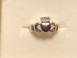 Sterling Silver Claddagh Ring - Size 5