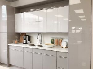 Modern White/Grey Acrylic High Glossy Kitchen Cabinets SALE
