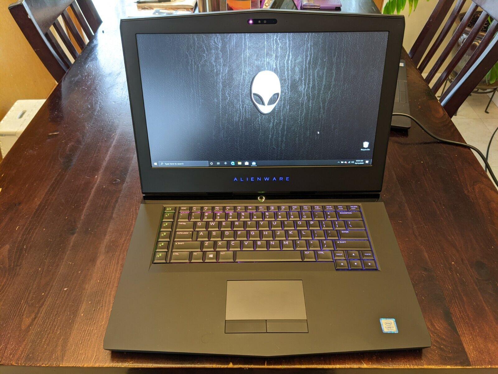Alienware 15 R3 Laptop I7-7700HQ GTX 1070 500/256/250GB SSD 16GB RAM Windows 10  - $750.00