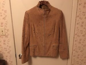"""Suede Lined Leather Jacket """"Katie"""" by Sibylle Lyn Brown"""