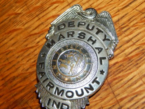 ANTIQUE DEPUTY MARSHAL FAIRMOUNT INDIANA POLICE  IN HMK MIDWEST FIRE & SAFETY
