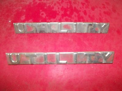 Farmall 300 350 U Tractor Original Ih Utility Chrome Hood Side Emblems Emblem