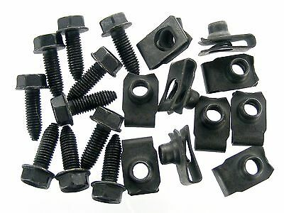 Dodge Truck Body Bolts & U-nut Clips- M8-1.25 x 25mm Long- 13mm Hex- 20 pcs #389