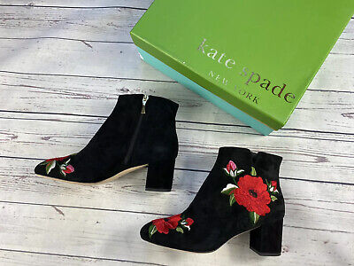 £300 Kate Spade Ankle Boots, Black Suede Boots in Size 6,5 UK, 39,5 EU, 9 US NEW