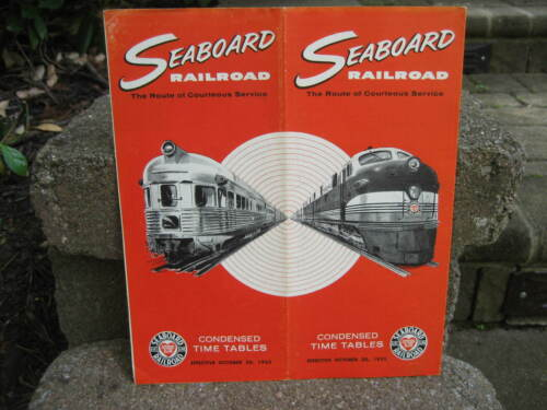 1955 Seaboard Air Line Railroad Time Table